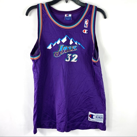 wholesale dealer 9d93a 80dae Champion NBA Jersey Karl Malone #32 Utah Jazz